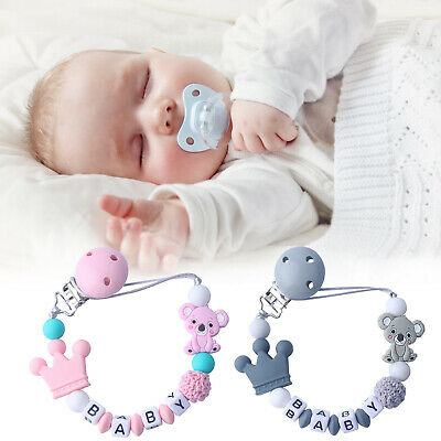 Dummy Clip Silicone Pacifier Holder Soother Chain ~ Baby Girls • 4.99£