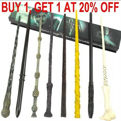 Boxed Harry Potter Dumbledore Voldemort Hermione Magic Wand Collection Cosplay • 6.39£