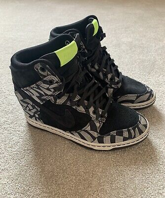 Nike X Liberty Of London Ltd Edition Dunk Sky High High Tops UK 4 Excellent Cond • 65£