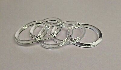 £5.99 • Buy 50mm Round Clear Plastic Rings, Circle O Rings, Bags/crafts Etc, Art Cr-3