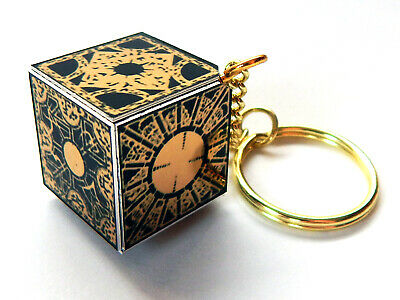 Hellraiser Puzzle Box Keyring Hand Made Mirror Gold Classic Horror Film Repro • 9.99£