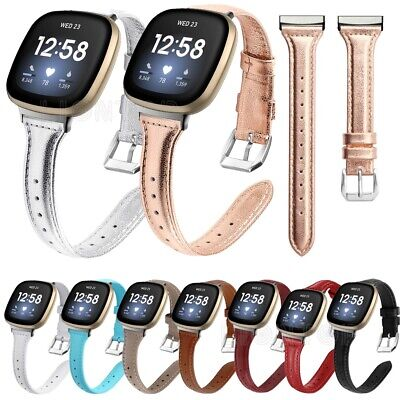 $ CDN11.18 • Buy Replacement Genuine Leather Strap Wrist Band Bracelet For Fitbit Versa 3/Sense