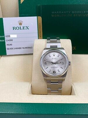 $ CDN7778.81 • Buy BRAND NEW Rolex Oyster Perpetual 114200 Silver Dial Stainless Steel Box Papers