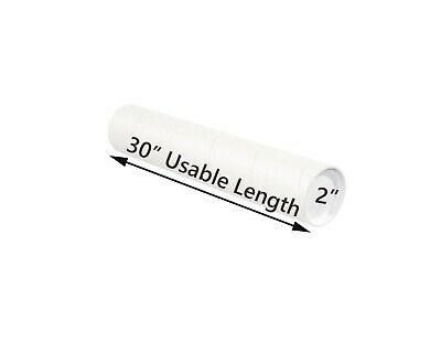 $30.88 • Buy White Mailing Tubes With Caps, 2  X 30   Usable Length (12 Pack) | Tubeequeen™