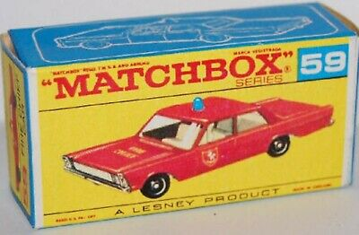 £4.99 • Buy Matchbox Lesney Product No 59  Ford Galaxie Fire Chief Empty Repro  Style D Box
