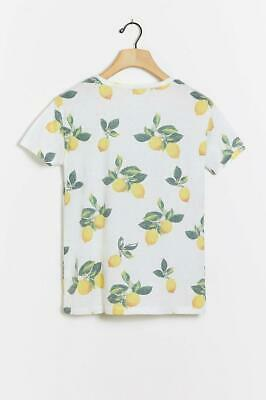 $ CDN50.88 • Buy Anthropologie Chaser Size Large Lemons Tee Top Multicolor Short Sleeves New NWT