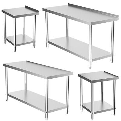 £119.95 • Buy Commercial Kitchen Stainless Steel Work Bench Catering Prep Table Worktop 3-6ft