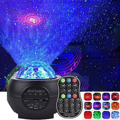 Galaxy Star LED Starry Night Light Projector Kids Baby Sky Ocean Wave Lamp Gift • 25.99£