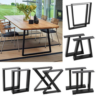 Set Of 2 Metal Table Legs Bench Frame Feet Industrial Rustic Steel Base Stands • 83.95£