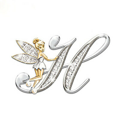 Stunning Tinkerbell Fairy Alphabet Letter  H   Pendant Necklace With Organza Bag • 2.99£