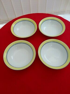 A SET OF 4 Cereal Dishes Royal Doulton BLUEBERRY MODERN DISH/MIRCO SAFE CHECK !! • 9.99£