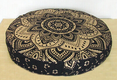 £13.99 • Buy Round Floor Cushion Pillow Cover Indian Cotton 35  Large Pouf Meditation Cover