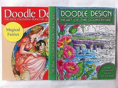 Brand New Adult Colouring Books X 2 - DOODLE DESIGN • 5£
