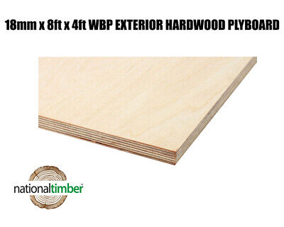 18mm X 2440mm X 1220mm (8ft X 4ft) WBP BB/BB Exterior Red Faced Plywood • 27.99£