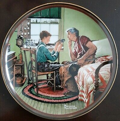 $ CDN16.37 • Buy Norman Rockwell  The Inventor And The Judge  Edwin M. Knowles Collectors Plate