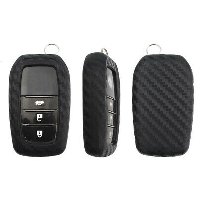 $7.98 • Buy Fit Toyota Venza Land Cruiser Carbon Fiber Remote Smart Key Fob Silicone Cover