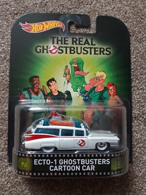 SEALED, CARDED, BOXED - Hotwheels Mattel Diecast THE REAL GHOSTBUSTERS ECTO-1 • 20£