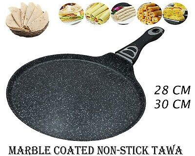 Non Stick Crepe Pan Marble Coated Roti Dosa Tawa Pancake Maker Induction Gas Hob • 16.99£