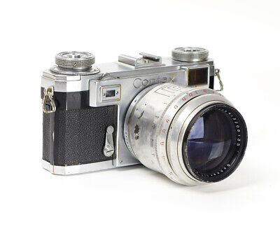 $ CDN631.73 • Buy Rangefinder Zeiss Contax IIa With Carl Zeiss Jena Sonnar Red T 2/8.5cm No.V16347