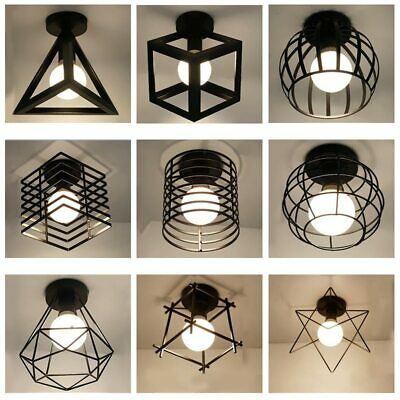 £24.22 • Buy Modern Nordic Black Wrought Iron E27 Led Ceiling Lamps For Kitchen Living Room