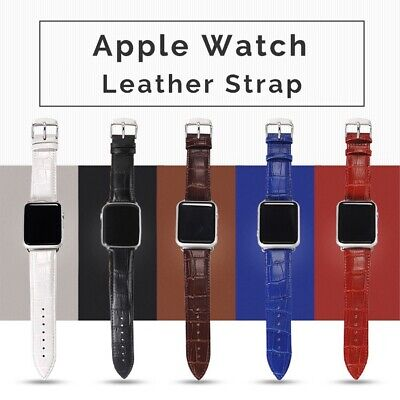 $ CDN8.34 • Buy For Apple Watch Series 6 5 4 3 2 1 SE Leather IWatch Band Strap 40/44/38/42mm