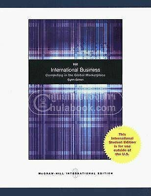 £7 • Buy International Business: Competing In The Global Marketplace, 8th Edit, C. Hill