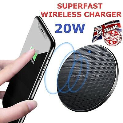 £7.99 • Buy 20W Wireless Charger, Superfast Charging Pad For IPhones & Samsung Phones