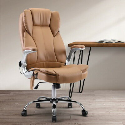 AU147.90 • Buy Artiss Massage Office Chair Gaming Chairs Computer Chair 8 Point Espresso