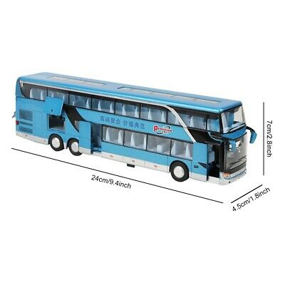 $ CDN31.40 • Buy Electric 1:50 Alloy Double-decker Bus Model Toy With Light Music For Childr