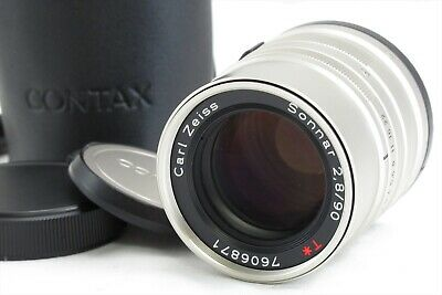 $ CDN214.63 • Buy 【EXC+++++】Contax Carl Zeiss Sonnar T* 90mm F/2.8 G Lens For G1 G2 W/ Case #3010