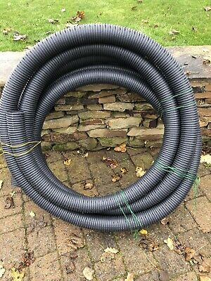 Plastic Perforated Land Drainage Pipe 90mm 12m Length • 22.50£