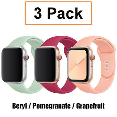 AU11.99 • Buy 3 Pack Silicone Sport Band Strap Fit Apple Watch 6 5 4 2 IWatch SE 38 40 42 44mm