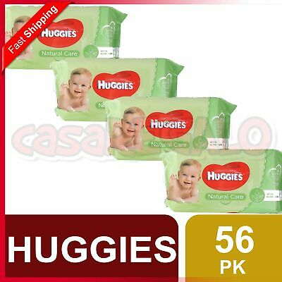 AU19.99 • Buy Huggies Pk56 Baby Wipes Natural Care Sticky Top