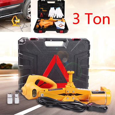 3 Ton 12V Electric Jack Lifting Car SUV Emergency Equipment With Impact Wrench • 68.36£