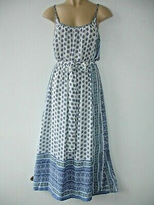 GAP Lovely GRECIAN DESIGN STYLE Long Blue And White Dress Size S • 9.99£