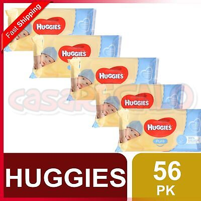 AU19.99 • Buy Huggies Pk56 Baby Wipes Pure Unscented Sticky Top