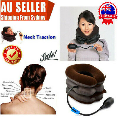 AU13.24 • Buy Air Inflatable Pillow Easing Muscle Pain Cervical Neck Traction Brace Device DM