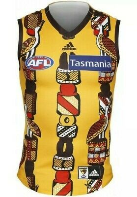 AU158.99 • Buy Hawthorn  2019 Men's Authentic Indigenous (cyril Rioli) Guernsey. Size: L. Bnwt!
