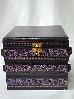 Handmade Hand Carved Wooden Jewellery Box Storage Case Organiser Unit Chest New • 19.98£