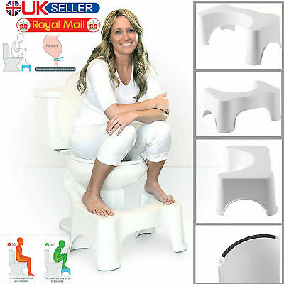Potty Squatty Toilet Step Stool Bathroom Squat Aid Constipation Piles Relief New • 9.45£