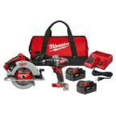 £289.48 • Buy M18 18-Volt Lithium-Ion Brushless Cordless Hammer Drill And Circular Saw Combo