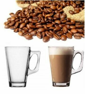 £8.99 • Buy New Set Of 6 240ml Clear Tall Costa Cappuccino Coffe Tea Latte Glass Mugs Cups