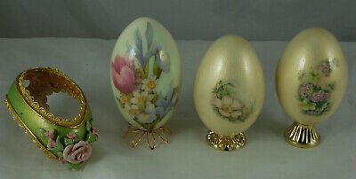 £20 • Buy 4 Decorated Blown Eggs On Stands & 1 Other