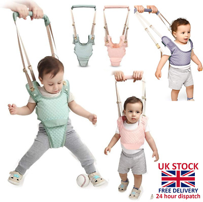 Baby Toddler Walking Harness Aid Assistant Rein Learn Walk Safety Equipment UK • 8.99£