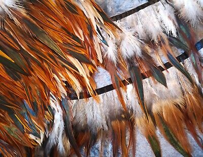 £4.49 • Buy 1 / 2  Meter Peacock Rooster Feather Trimming Fringe Sewing Costume Hackle Coque