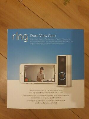 Ring Door View Cam Video Doorbell Replaces Peephole 1080p HD • 75£