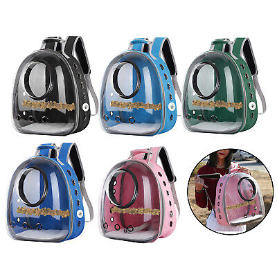 Portable Birds Parrot Travel Cage Clear Lightweight Breathable Backpack Carrier • 27.60£