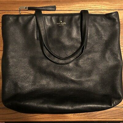 $ CDN59.95 • Buy Authentic Kate Spade New York Large Black Pebbled Leather Tote
