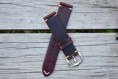 $ CDN33.96 • Buy 20mm Genuine Leather Watch Band Strap Handmade Red Fits Rolex Tudor ALL BRANDS