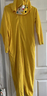 Pudsey Bear Children In Need Adults Medium Hooded All In One Piece 0nesie • 11£